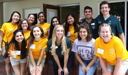 RAs, SAs, and orientation leaders team up to make Move-In and Orientation a success every year.