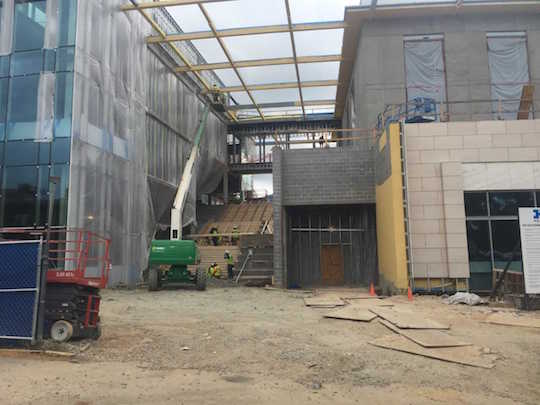CLC construction September update- stair step side front view