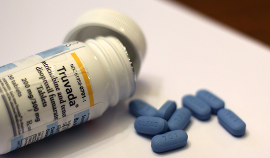 truvada pill bottle and pills