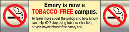 Emory is now a tobacco-free campus