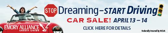 Emory Alliance Car Sale
