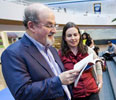 In person and on the page, Rushdie connects with students